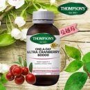 【NZ直邮】汤普森Thompson's 高含量 蔓越莓胶囊 60000mg 60粒(保质期到19年1月)