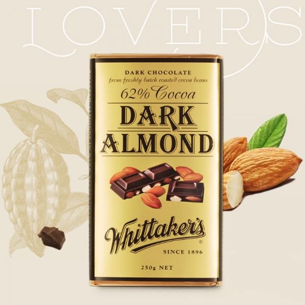 【NZ直邮】惠特克Whittakers 杏仁黑巧克力250g