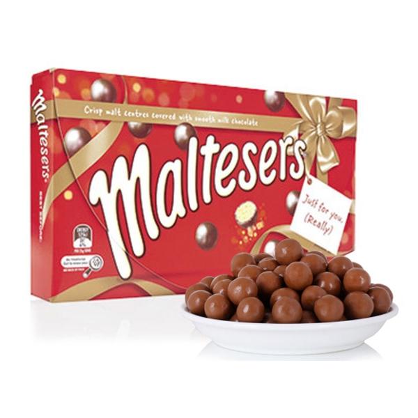 【特价】Maltesers麦提莎 麦丽素牛奶巧克力豆 360g礼盒装(保质期19年8月)
