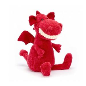 【NZ直邮】jellycat Toothy Dragon 樱桃龙大白牙系列玩偶