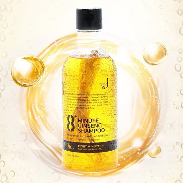 【买一送一】8+Minute8分钟人参精华防脱无硅油洗发水400ml 2瓶