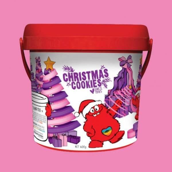 【特价】Cookie Time 圣诞曲奇饼干 600g 桶装