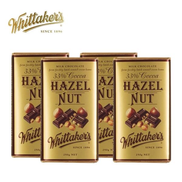 【团购特惠】惠特克Whittakers 榛果巧克力 250g 4块(到19年10月)