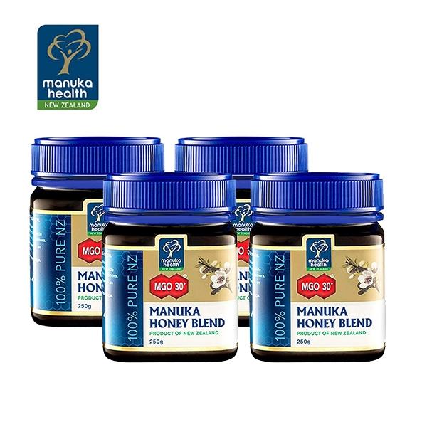 【团购特惠】蜜纽康Manuka Health 麦卢卡混合蜂蜜MGO30+ 250g 4瓶(到19年10月)