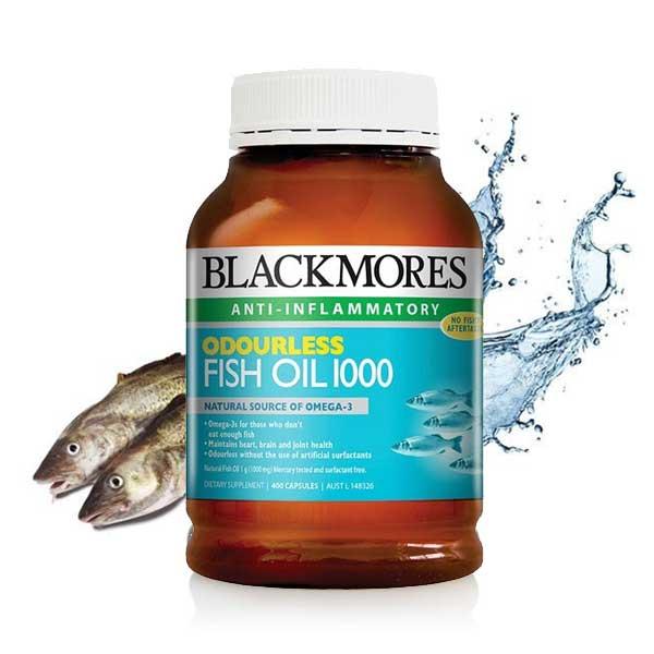【特价】百丽康美Blackmores无腥味深海鱼油胶囊 1000mg 400粒(保质期到20年8月)