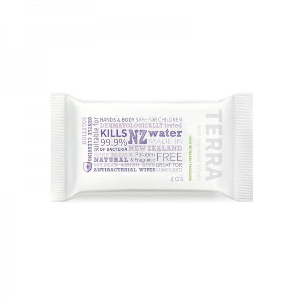 【NZ直邮】Terra 抗菌杀菌消毒湿巾 医用级别 40 片 权威认证 儿童可用 有效杀菌99.9%