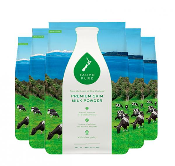 【限时特价】TAUPO PURE 特贝优脱脂奶粉1kg(6袋包邮)(下单请务必把收件人身份证备注在名字后面,否则不发货)