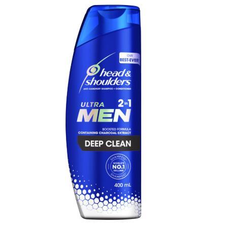 【NZ直邮】 海飞丝头肩男士洗发水和护发素深层清洁二合一 400ml