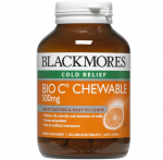 【NZ直邮】Blackmores Bio C Chewable 500mg 125t 澳佳宝500mg VC 125粒