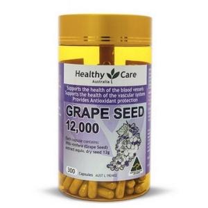 【临期特价】Healthy care葡萄籽精华胶囊12000mg300粒(保质期2021/06)
